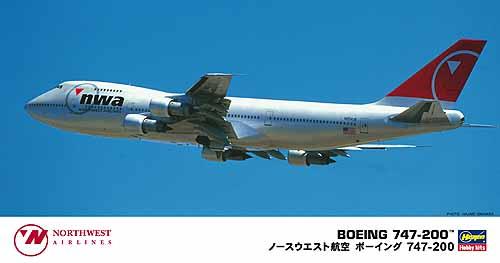 Northwest Airlines B747 200 Hasegawa 10686