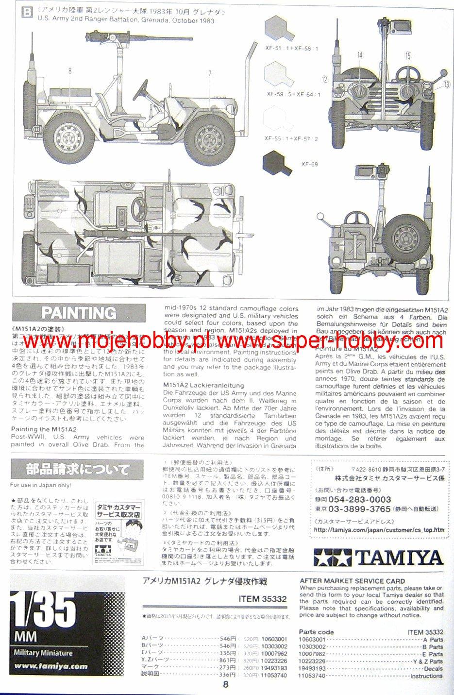 American Utility Truck M151a2  Grenada 1983  Tamiya 35332