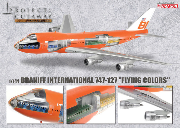 Braniff International 747 127 Quot Flying Colors Quot Dragon 47011