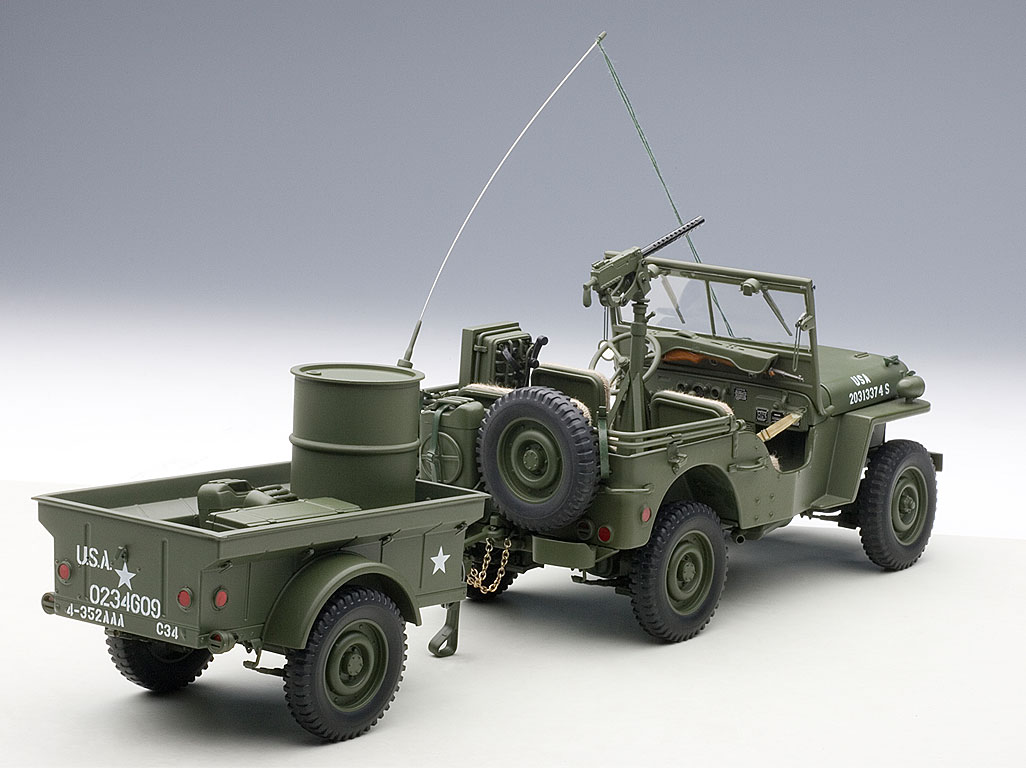 jeep willys 1943 die cast model autoart 74016. Black Bedroom Furniture Sets. Home Design Ideas