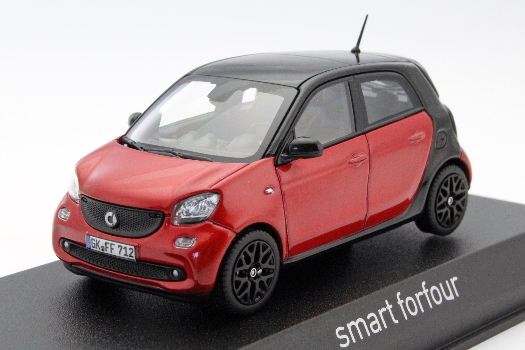 SMART FORFOUR 2015 Red/Black - Die-cast model - Norev 351425