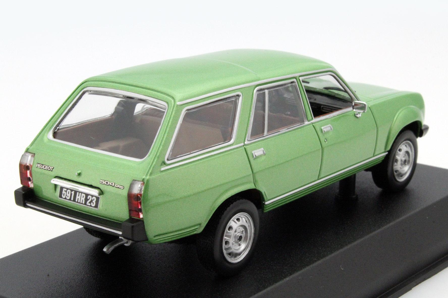 peugeot 504 break dangel 1980 green metallic die cast model norev 475430. Black Bedroom Furniture Sets. Home Design Ideas