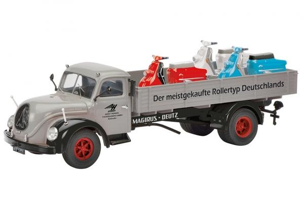 magirus s6500 heinkel roller die cast model schuco 450316600. Black Bedroom Furniture Sets. Home Design Ideas