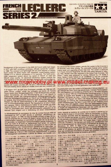 french tank leclerc series 2 tamiya 35279. Black Bedroom Furniture Sets. Home Design Ideas