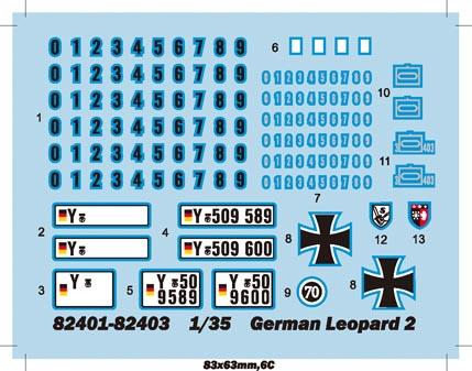 German Leopard 2 A5 A6 Tank Hobby Boss 82403