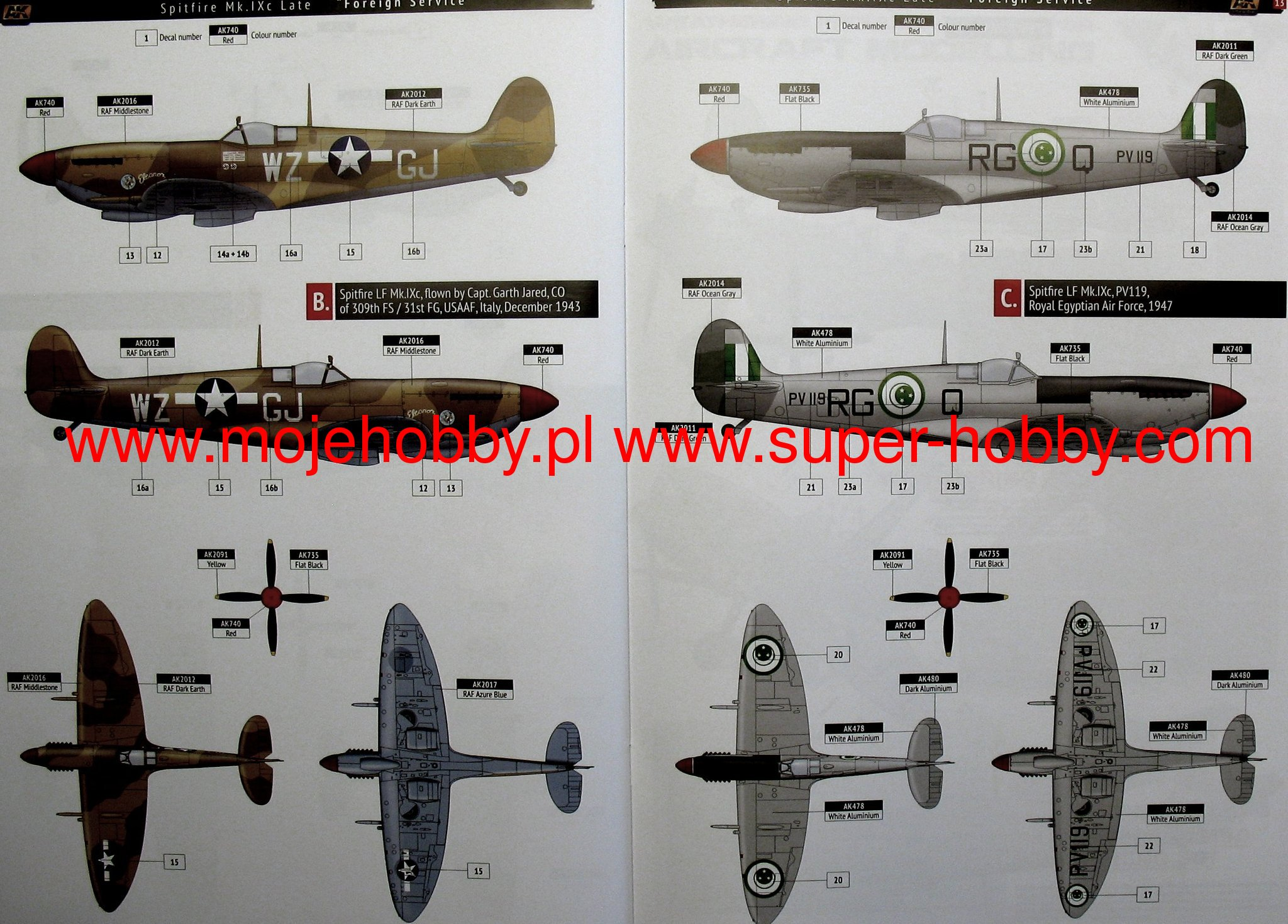 Spitfire mk ixc late fighter plastic kit ak interactive for Air force decoration points