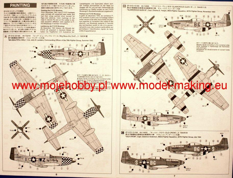 P 51d Mustang 8th Af Aces Tamiya 60773