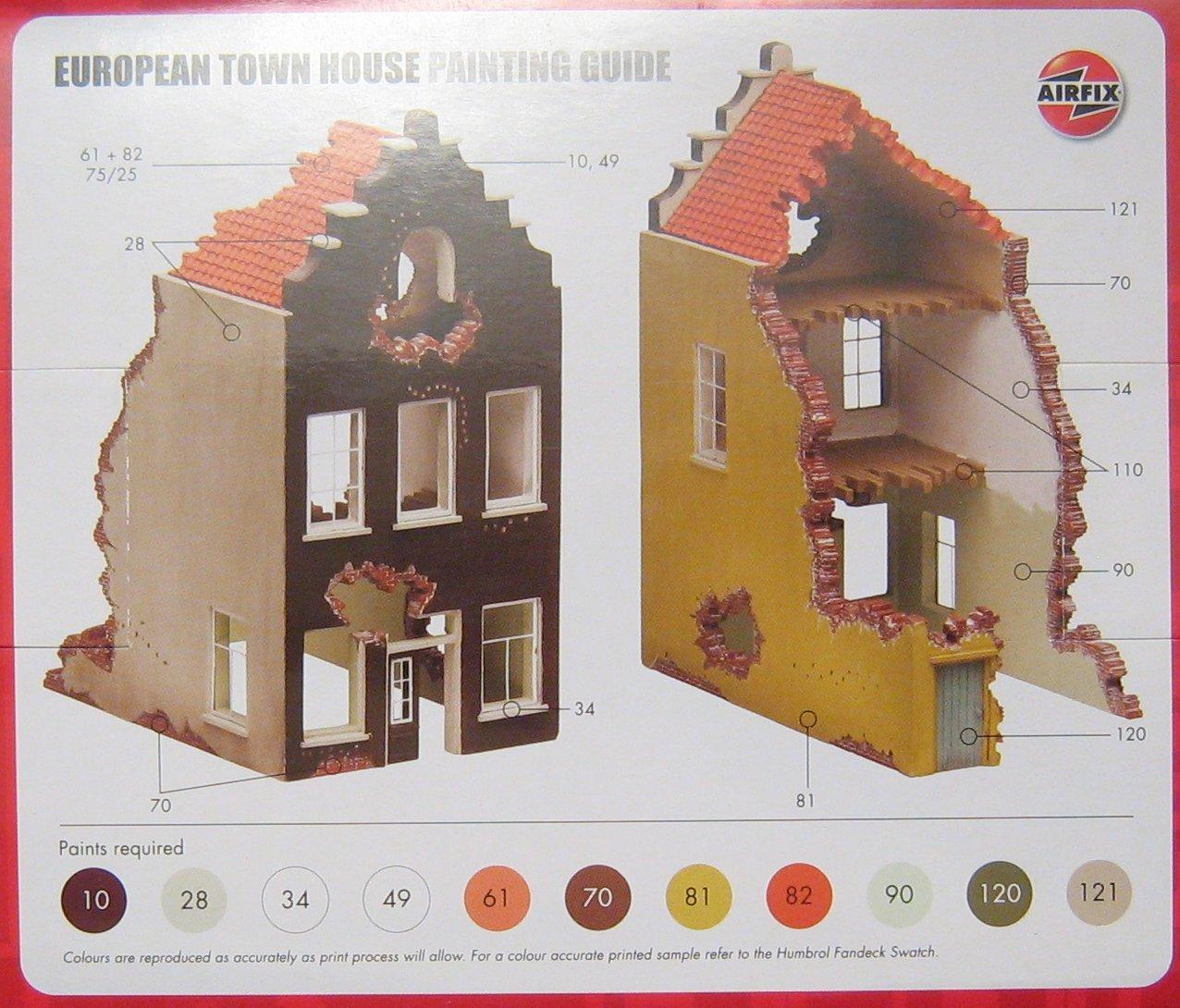 European Town House Ruin Airfix 75005