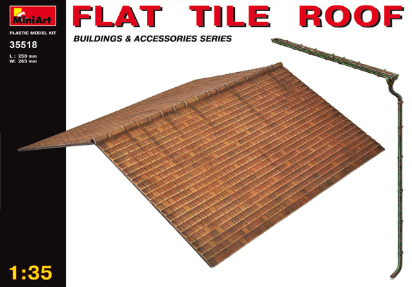 Flat tile roof miniart 35518 for Flat tile roof