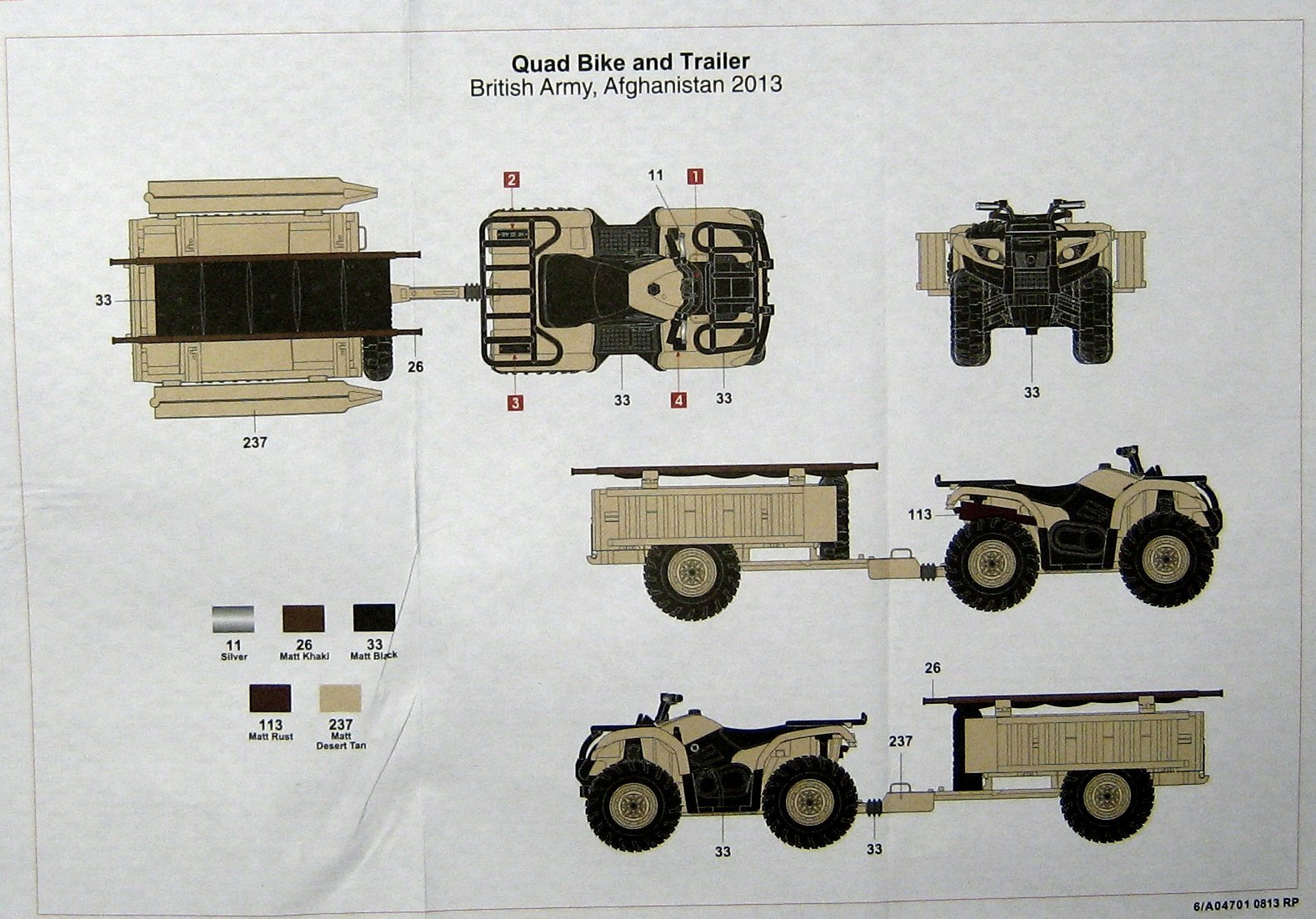 British Quad Bikes and Crew Airfix 04701