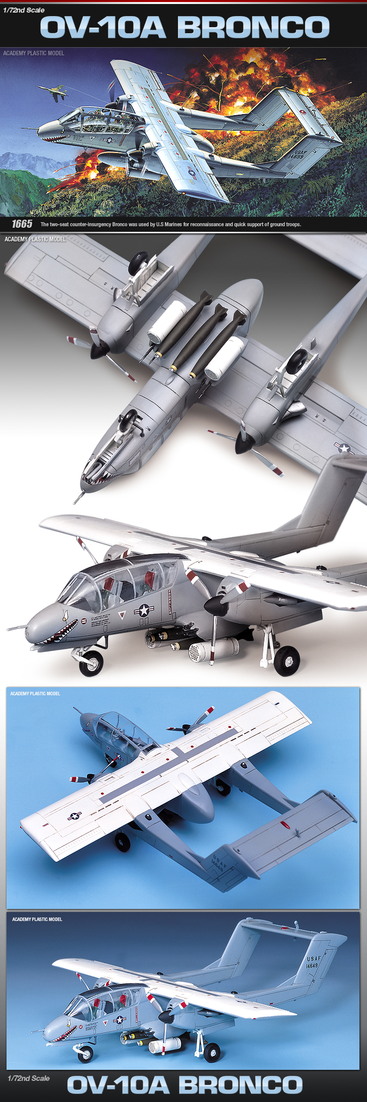 Academy 1//72  OV-10A Bronco Plastic Model Kit  #12463 NISB