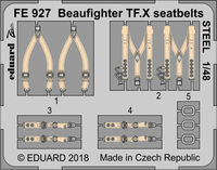 Beaufighter TF.X seatbelts STEEL REVELL - Image 1