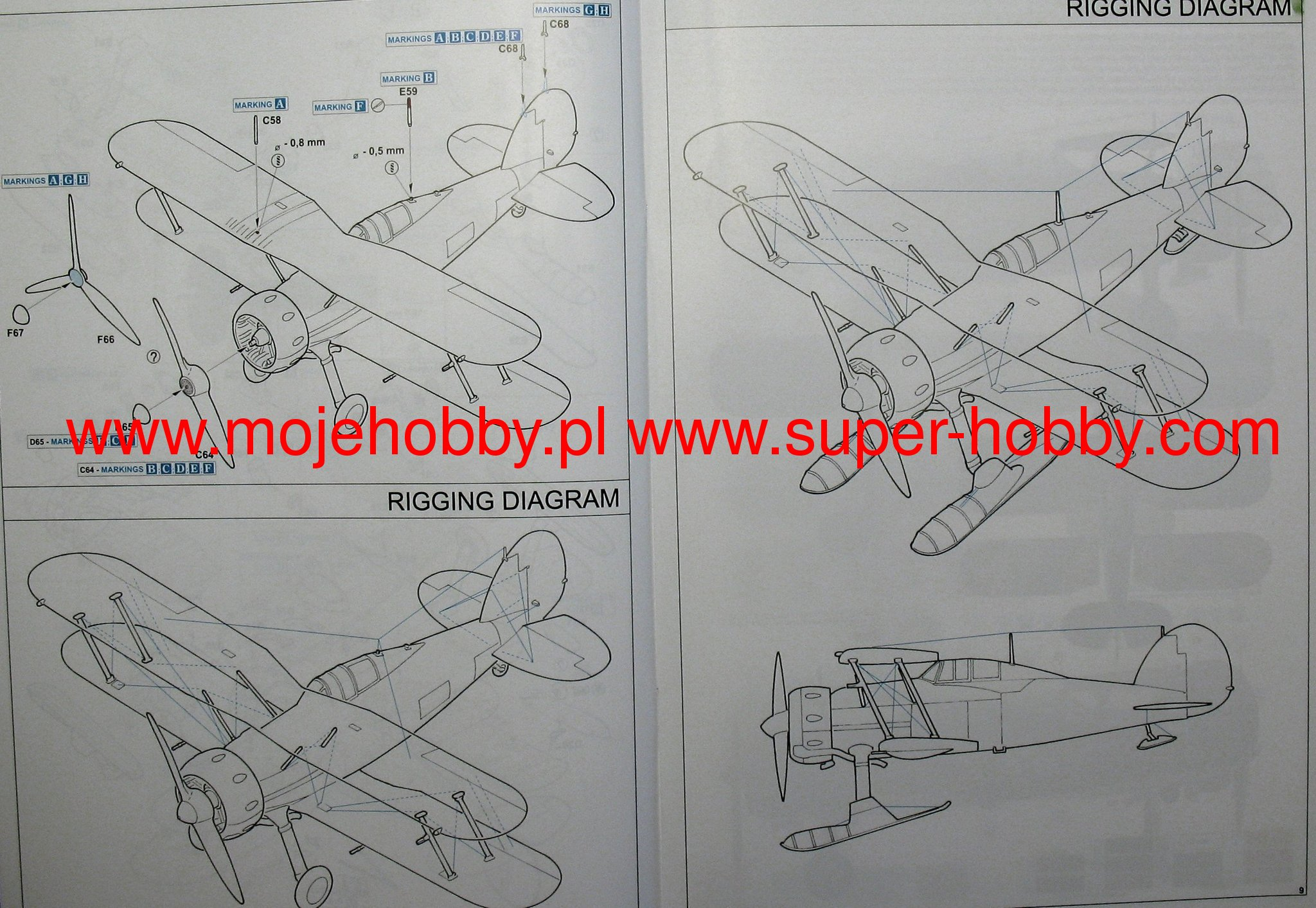 Gloster Gladiator Eduard 1145 F67 Wiring Diagram 2 Edu1145 5