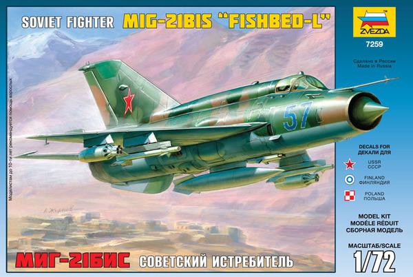 "RV Aircraft 1//72 Mikoyan MiG-21/""Kretchet/"" Fishbed Model Kit"