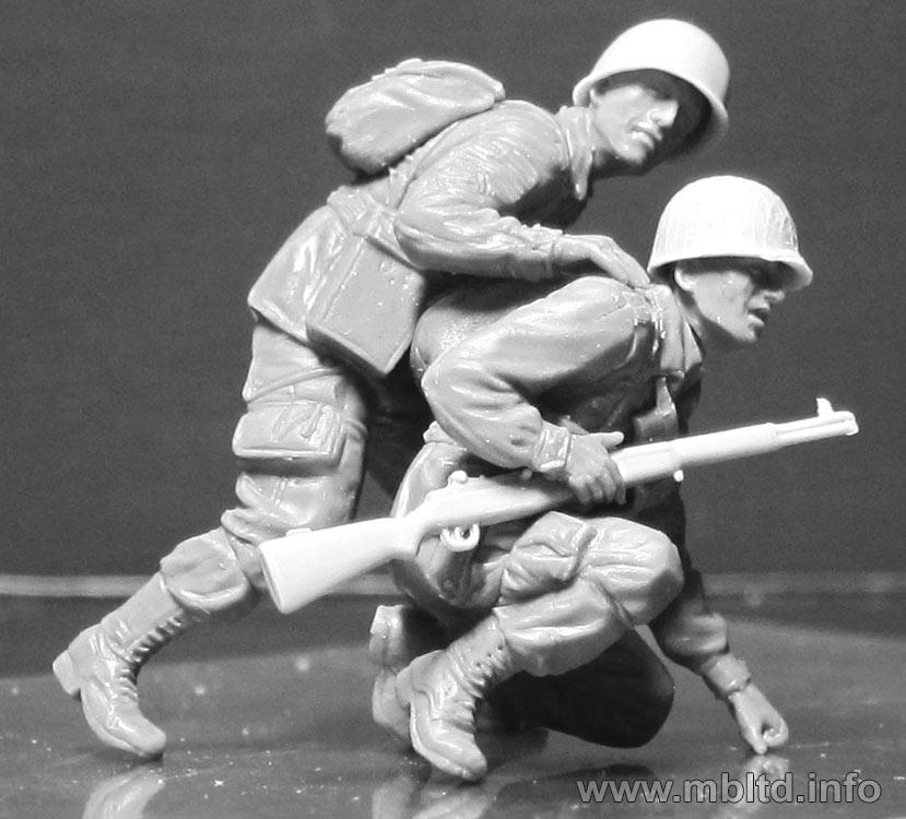 Master Box MB3574-1//35 US Paratroopers Europe 1944-1945 Neu