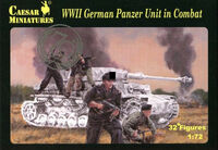WWII German Panzer Unit in Combat