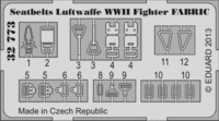 Seatbelts Luftwaffe WWII Fighter FABRIC - Image 1