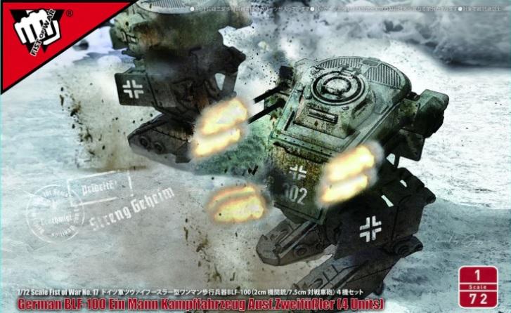 Fist of War BLF-100A Ein Mann Kampffahrzeug Ausf. Zweifüßler (4 Units)
