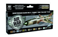 71607 Air War Color Series - Soviet/Russian Colors MiG-21 Fishbed from 50s to 90s