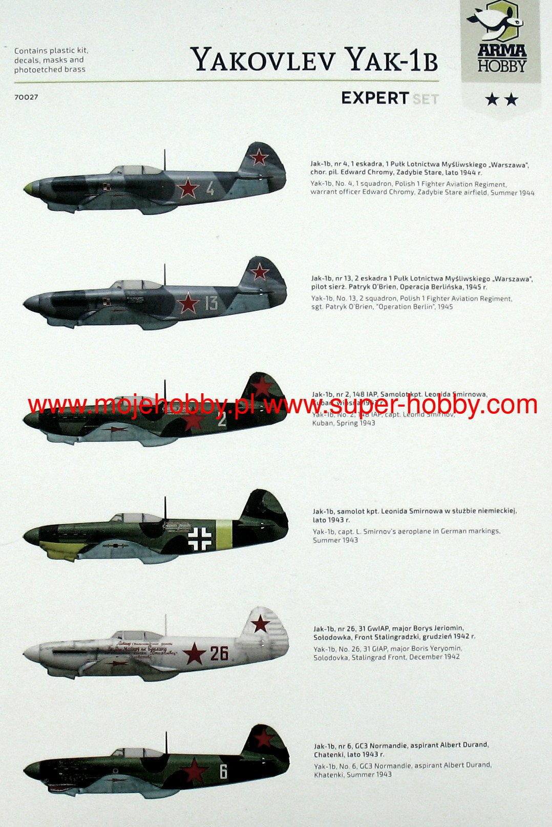 Arma Hobby Yakovlev Yak-1b Expert Set in 1//72