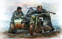 German Motorcyclists, WWII era - Image 1