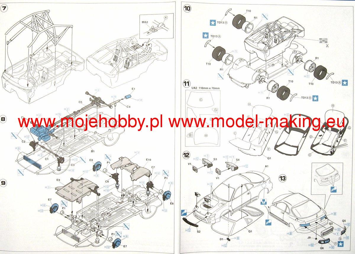 Toyota Celica 93 Monte Carlo Hasegawa Cr10 3 1 Engine Diagram 2 Hascr10