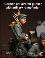 German antiaircraft gunner with artillery rangefinder - Image 1
