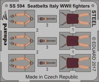Ätzsat Eduard Accessories Ss582-1:72 Seatbelts Luftwaffe WWII Fighters Steel