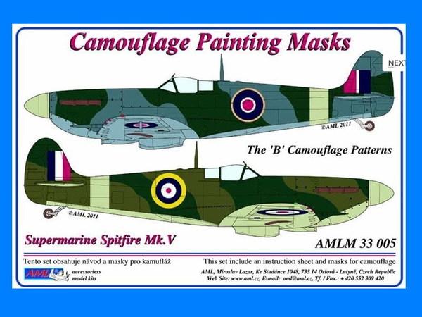 d565142f3a14 Spitfire Mk.V Camouflage masks