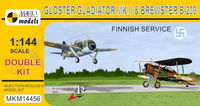 In Finnish Air Force (double kit) Gloster Gladiator Mk.II & Brewster B-239 Buffalo