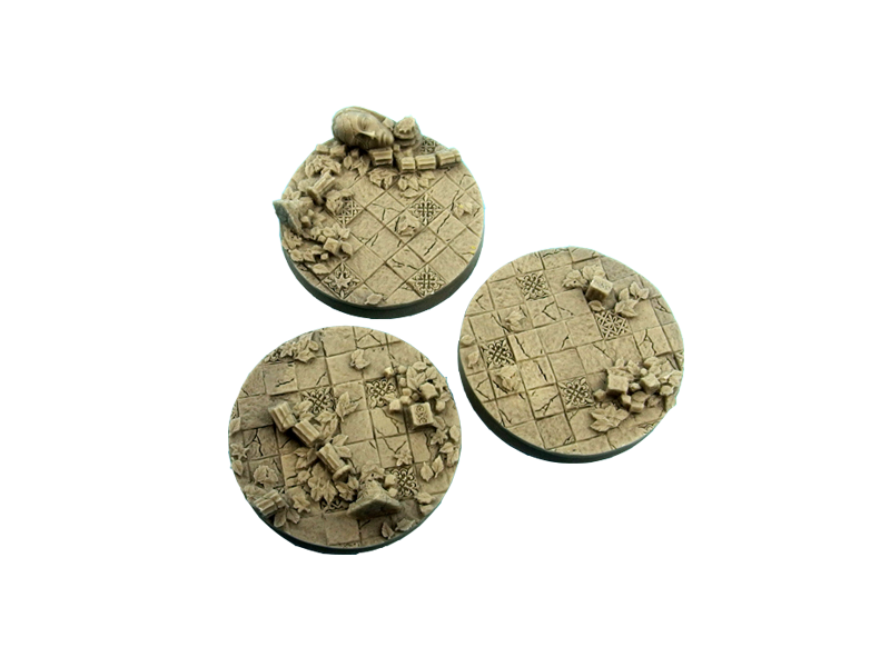 2 Ancient Bases Round 50mm - *MicroArtStudio*