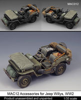 Accessories for Jeep Willys, WW2 /dedykowane do modelu Tamiya