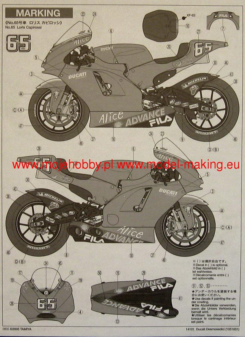 Ducati Desmosedici Tamiya 14101 Scale Kits 2 Tam14101 7 8