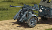 2.8cm sPzB41 On Larger Steel-Wheeled Carriage w/Trailer - Image 1