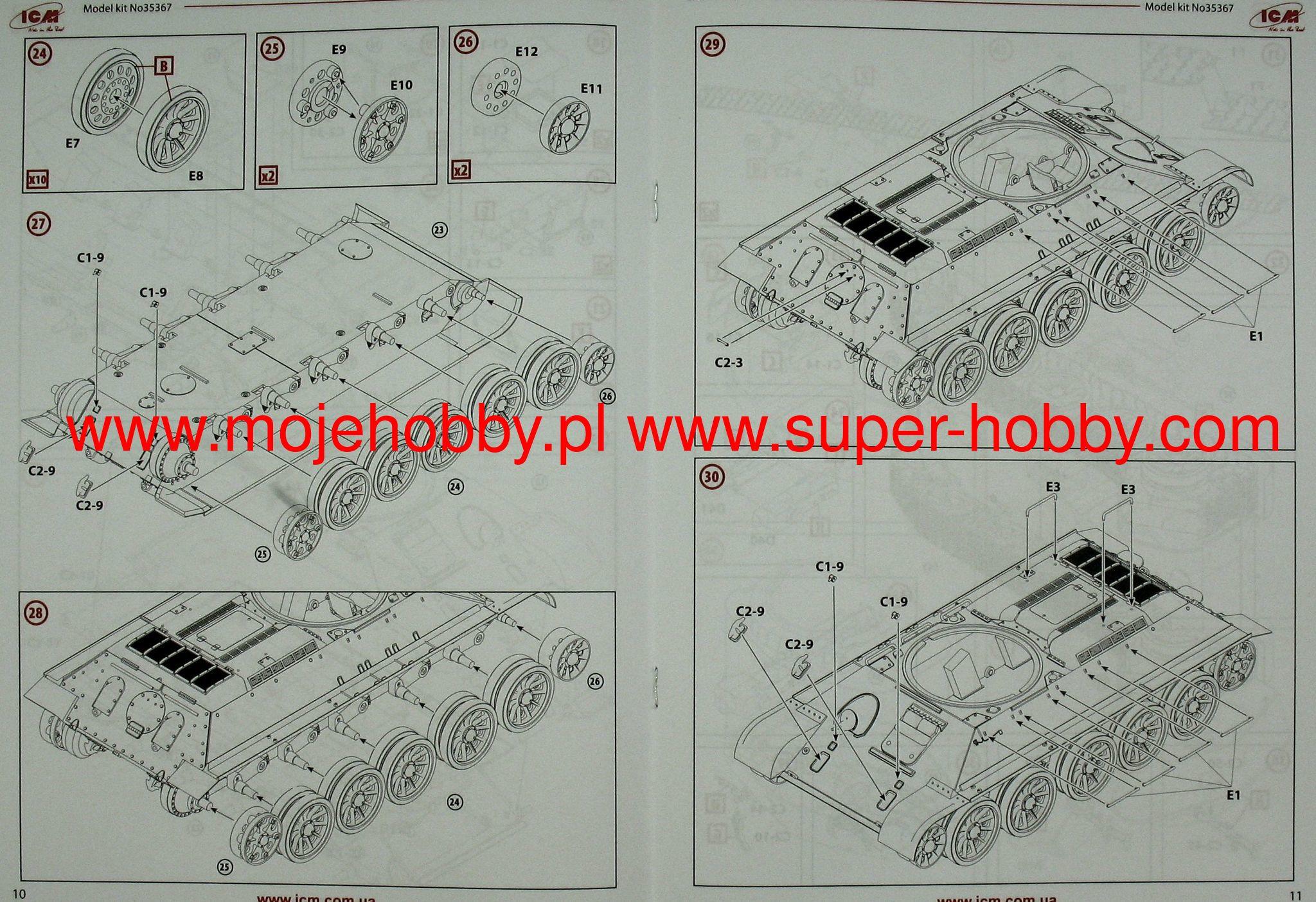 T 34 85 With Soviet Tank Riders Icm 35369 E7 350 Engine Diagram 2 Icm35369 6