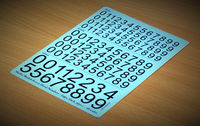 Decal Numbers - large, black, type 1