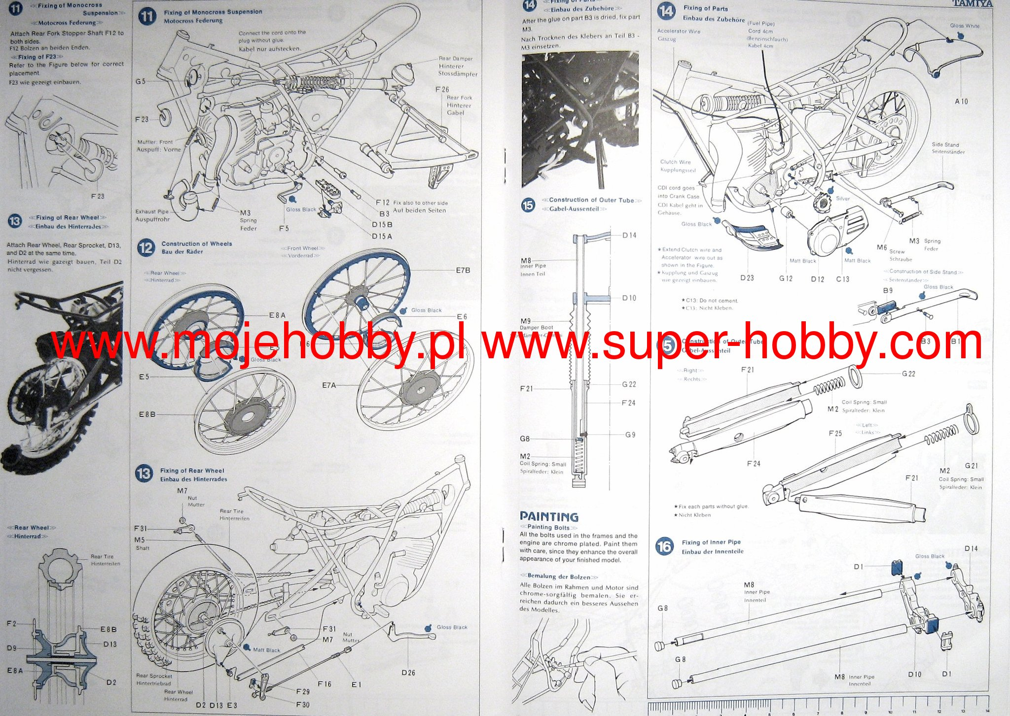 Yamaha Motocrosser Yz250 Tamiya 16036 Wiring Diagram 2 Tam16036 4