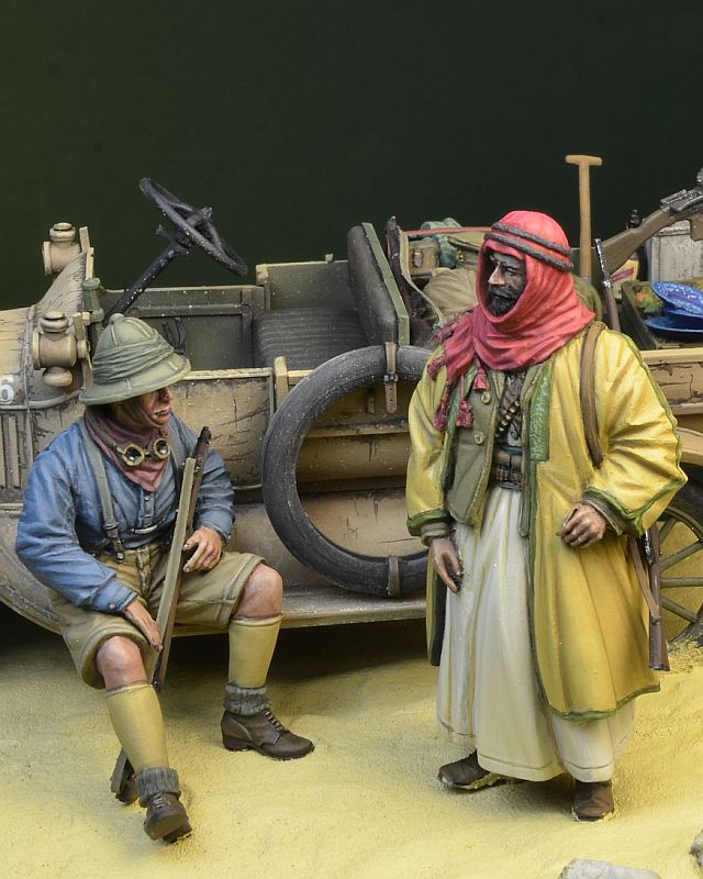DDAY MINIATURE WWI ANZAC SOLDIER WITH MONOCULAR 1915//18 1//35 35117