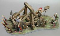 Medieval Catapult with Crew and Base