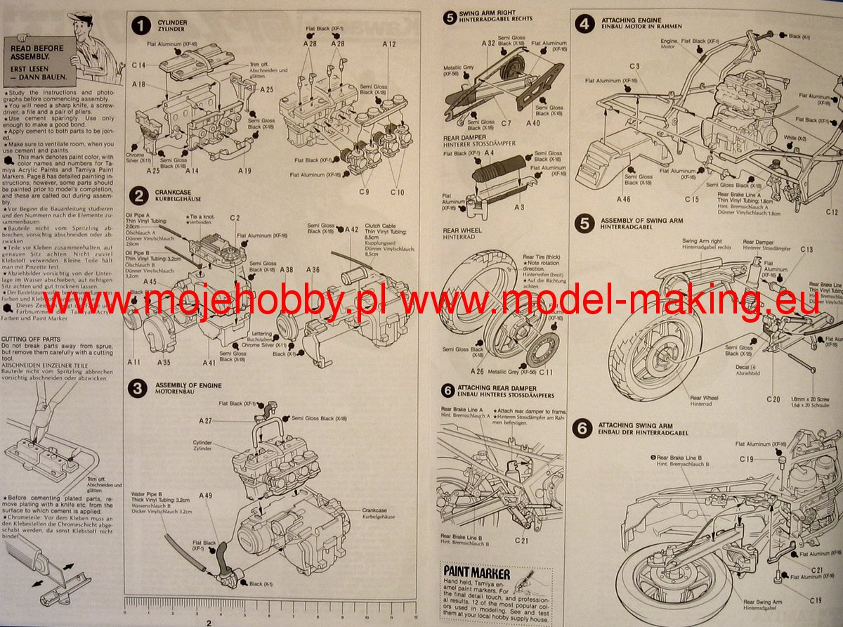 Kawasaki Gpz 400 Wiring Diagram Sierramichelsslettvet Gpz1000rx Gpz400r Kit Cf445 Tamiya 14045