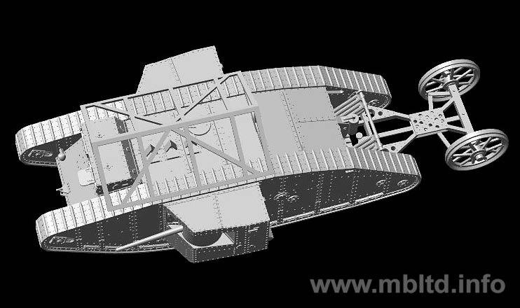 Somme Master Box 1//72 Mk.I Male British Tank 1916 # 72001