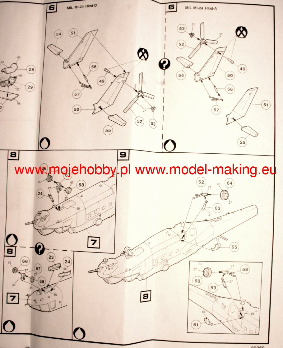 Mi 24 Hind A D Heller 80369 1009 Military Wiring Harness Diagram 2 Hlr80369 4