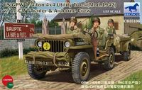 US Jeep 1/4ton 4x4 Utility Truck (Mod.1942) with 10-cwt Trailer and  Airborne Crew