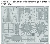 B-26C Invader undercarriage & exterior ICM