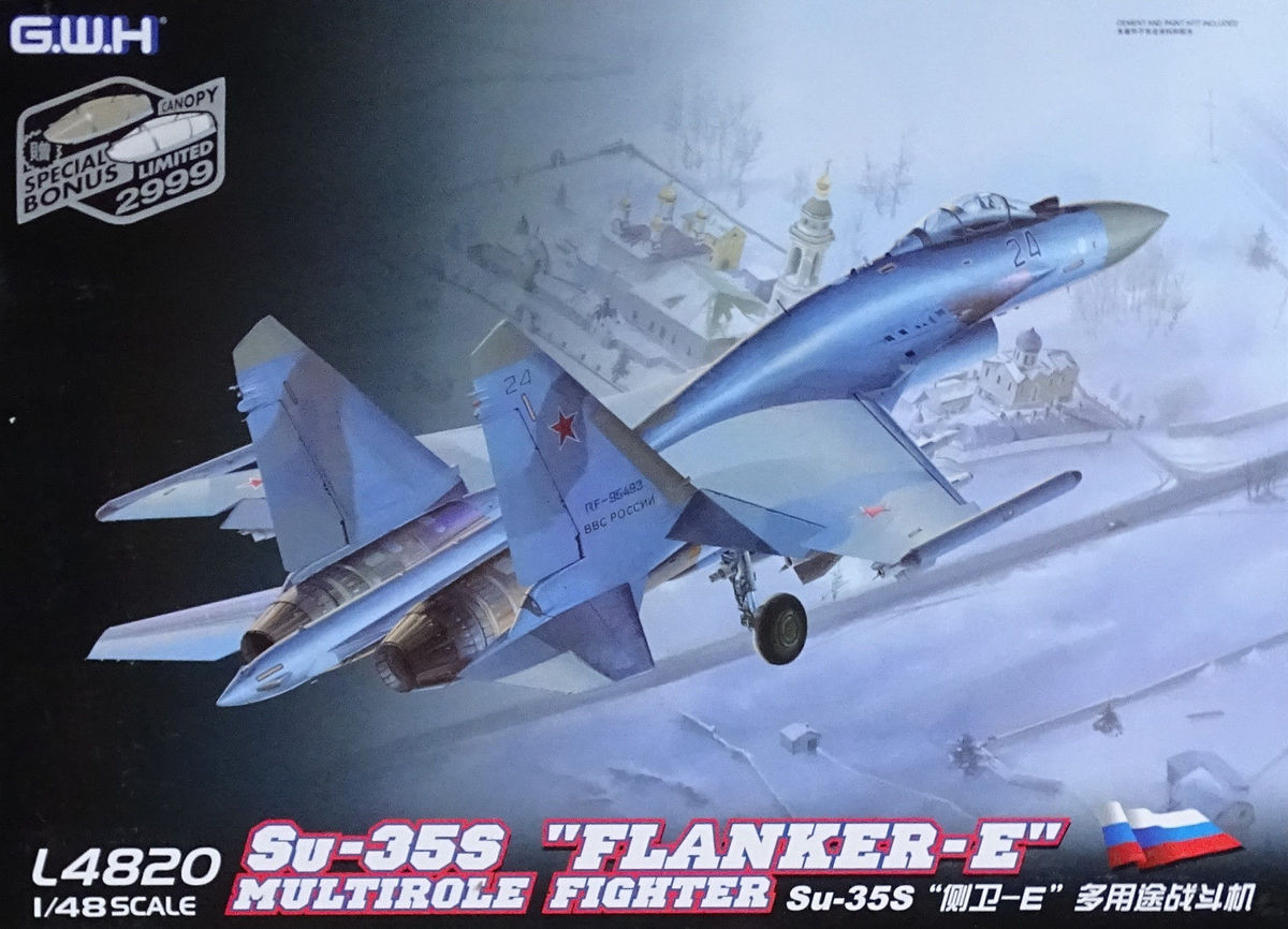 """Great Wall Hobby L4823 1//48 Su-35S /""""Flanker-E/"""""""