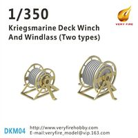Kriegsmarine Deck Winch and Windlass - Two types (22 Sets)