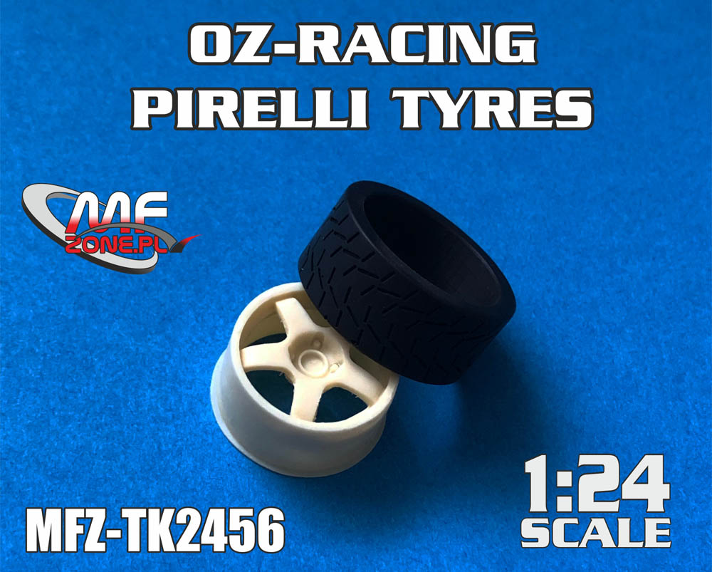 OZ-Racing + PIRELLI Tyres for Hasegawa Focus RS WRC - Image 1