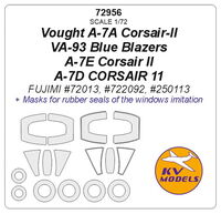 Vought A-7A Corsair-II VA-93 Blue Blazers / A-7E Corsair II / A-7D CORSAIR 11 (Fujimi) + disks and wheels masks - Image 1