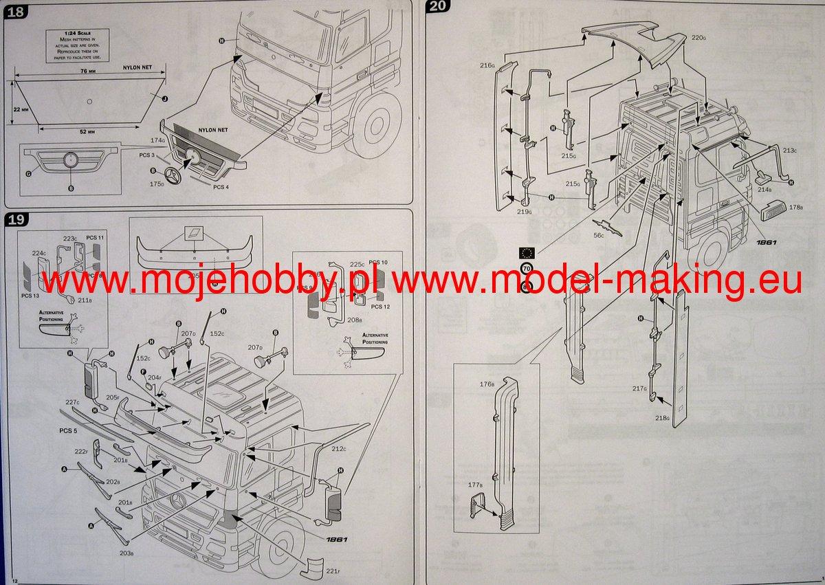 Mercedes Benz Actros With Tank Trailer Flower Power Italeri 3856 Wiring Diagram 2 Ita3856 7