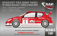 "Peugeot 206 WRC ""MARLBORO"" Sanremo 2003 - additional decal"